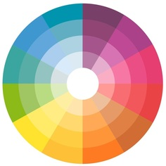 color wheel in book cover design